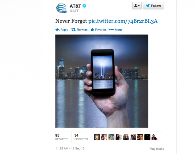 AT&T Sept 11th Social Media Fail